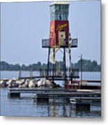 Lyman Harbor Lighthouse Metal Print