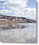 Lyme Regis Seafront Metal Print