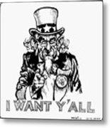 Lyndon Johnson: Cartoon Metal Print
