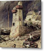 Lynmouth In Devonshire Metal Print