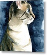 Lynx Point Cat Portrait Metal Print
