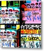 Lyon Graffiti Walls Metal Print
