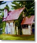Lyons Falls Church Metal Print