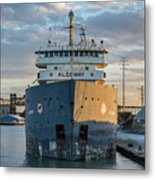 M/v Algoway At The Salt Dock Metal Print