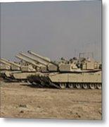 M1 Abrams Tanks At Camp Warhorse Metal Print