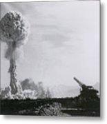 M65 Atomic Cannon Metal Print