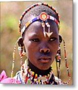 Maasai Beauty Metal Print