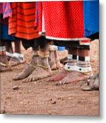 Maasai Feet Metal Print