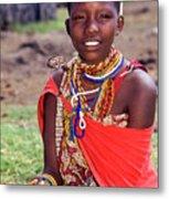 Maasai Teenager Metal Print