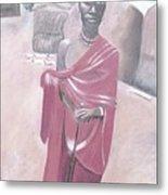 Maasai Tribesman Metal Print