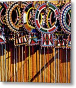 Maasai Wedding Necklaces Metal Print