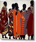 Maasai Women Metal Print