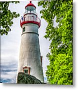 Mablehead Light From The Rocks Metal Print