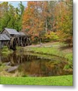 Mabry Mill In Fall 1 Metal Print