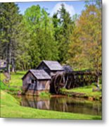Mabry Mill In The Springtime On The Blue Ridge Parkway  Metal Print by Kerri Farley