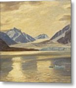 Macco, Georg 1863 Aachen - 1933   Glacier On Spitsbergen Metal Print