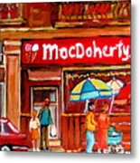 Macdohertys Icecream Parlor Metal Print
