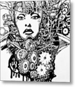 Machine 2 Metal Print