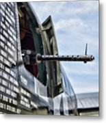 Machine Gun Wwii Aircraft Color Metal Print