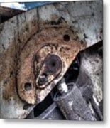 Machine Rust Hydraulic Ram Metal Print