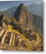 Machu Picchu At Dawn Near Cuzco Peru Metal Print