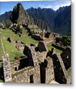 Machu Picchu Residential Sector Metal Print