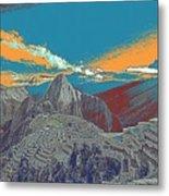 Machu Picchu Travel Poster Metal Print