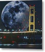 Mackinac Bridge Fantasy Metal Print