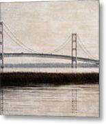 Mackinac Bridge Grunge Metal Print