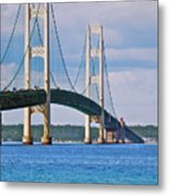 Mackinac Bridge Metal Print by Michael Peychich