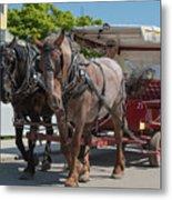 Mackinac Island Horse Carriage Metal Print