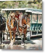 Mackinac Island Transportation - Surrey With The Fringe On Top Metal Print