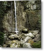 Mackinaw City Park Waterfalls 1 Metal Print