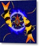 Macrachantis V1 - Colourful Fish Metal Print