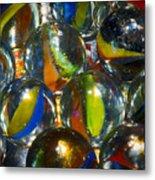 Macro Marbles Metal Print