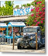Mac's Sea Garden II On Key West Florida Metal Print