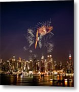 Macy's Fireworks Iv Metal Print by David Hahn