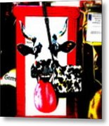 Mad Cow ...framed  Metal Print