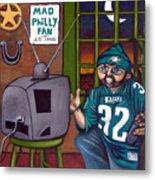 Mad Philly Fan In Texas Metal Print