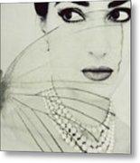 Madam Butterfly - Maria Callas  Metal Print