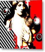 Madam Stripe Metal Print
