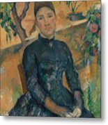 Madame Cezanne In The Conservatory Metal Print