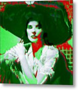 Madame Kate And The Big Hat Metal Print