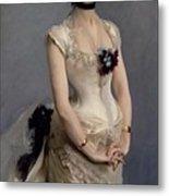 Madame Paul Poirson Metal Print by John Singer Sargent