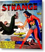 Madame Strange Female Comic Super Hero Metal Print