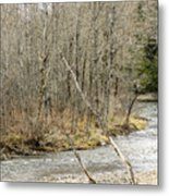 Madawaska Stream Bend Metal Print