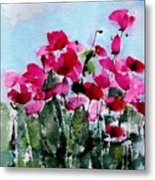 Maddy's Poppies Metal Print
