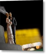 Made In China Bride And Groom Metal Print