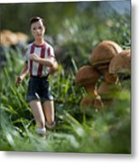 Made In China Soccer Player Metal Print
