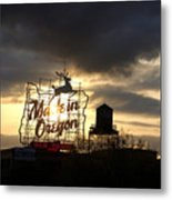 Made In Oregon Metal Print